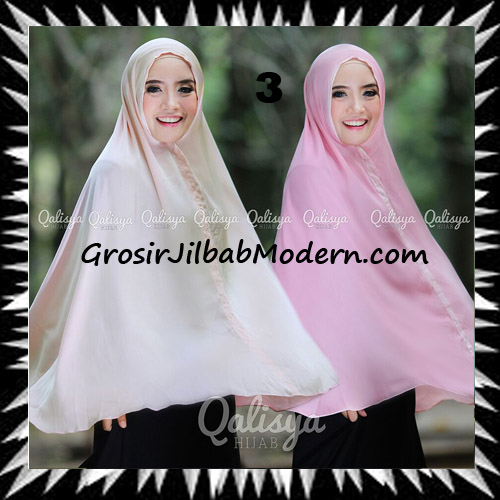 Jilbab Basic Khimar Bolak Balik Cantik Original By Qalisya No 3