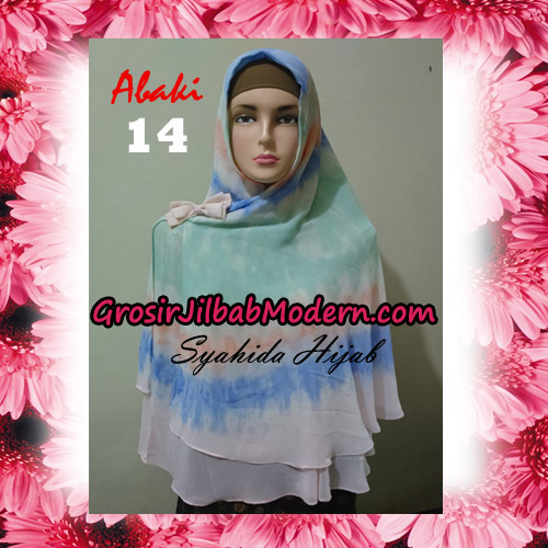 Jilbab Cerutti Tiedye Jumbo Terbaru Khimar Abaky Original By Syahida Brand No 14