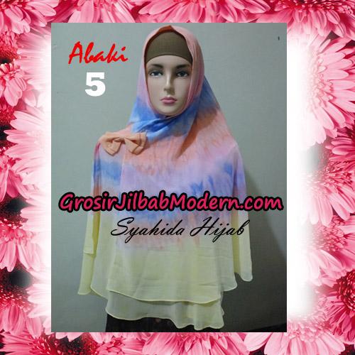 Jilbab Cerutti Tiedye Jumbo Terbaru Khimar Abaky Original By Syahida Brand No 5