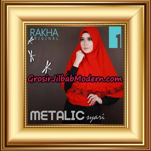 Jilbab Instant Syar'i Metalic Cantik Original by Rakha Brand No 1