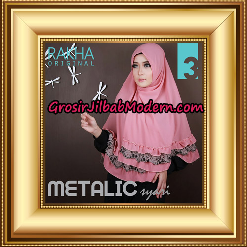 Jilbab Instant Syar'i Metalic Cantik Original by Rakha Brand No 3