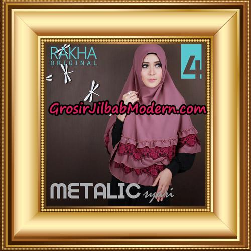 Jilbab Instant Syar'i Metalic Cantik Original by Rakha Brand No 4