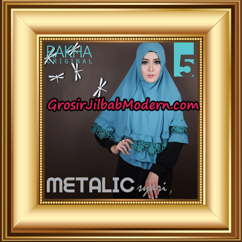 Jilbab Instant Syar'i Metalic Cantik Original by Rakha Brand No 5