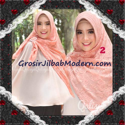 Jilbab Khimar Syar'i Cantik Halwa Brukat Seri 3 Original By Qalisya Brand No 2
