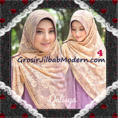 Jilbab Khimar Syar'i Cantik Halwa Brukat Seri 3 Original By Qalisya Brand No 4