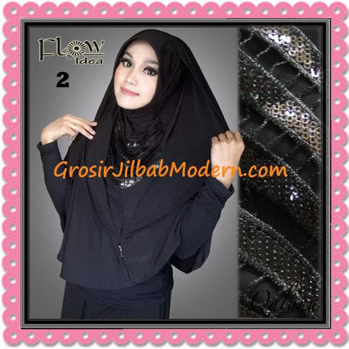 Jilbab Langsung Pakai Syria Bergo Pet Qaluna Original By Flow Idea No 2 Hitam