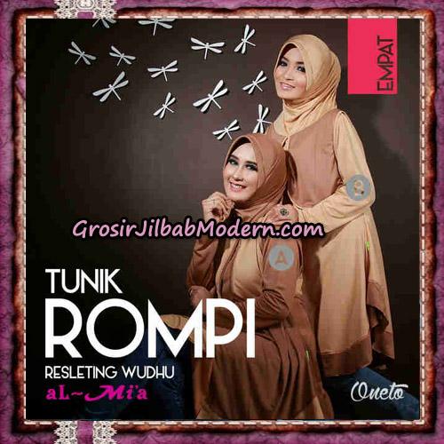 Jilbab Lengan Tunik Rompi Resleting Wudhu Original By Al-Mi'a Brand No 4A - 4B