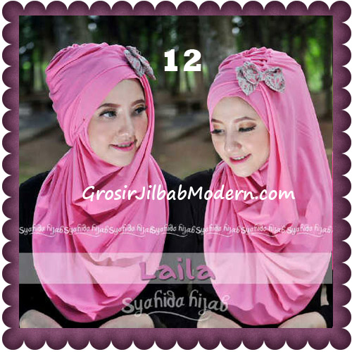 Jilbab Modern Pashmina Instan Laila Cantik Original by Syahida No 12