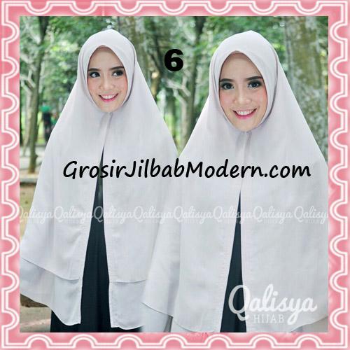Jilbab Pashmina Khimar Lipit Cantik Original Qalisya Brand No 6 Khaki