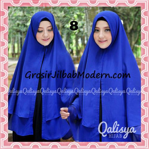 Jilbab Pashmina Khimar Lipit Cantik Original Qalisya Brand No 8 Birel