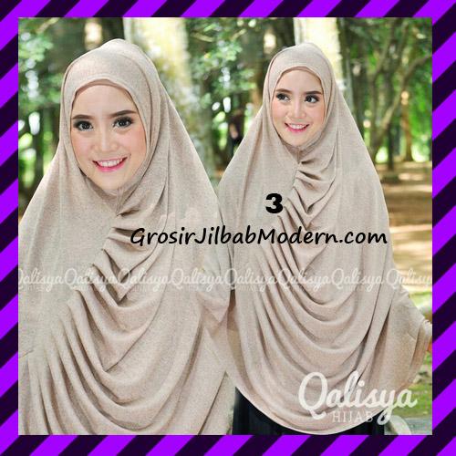 Jilbab Syar'i Khimar Rafa Non Pet Jacquard Original Qalisya Brand No 3