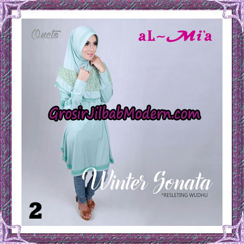 Jilbab Bergo Lengan Instant Tunik Winter Sonata Original By Almia ( Al-Mi'a ) Brand No 2