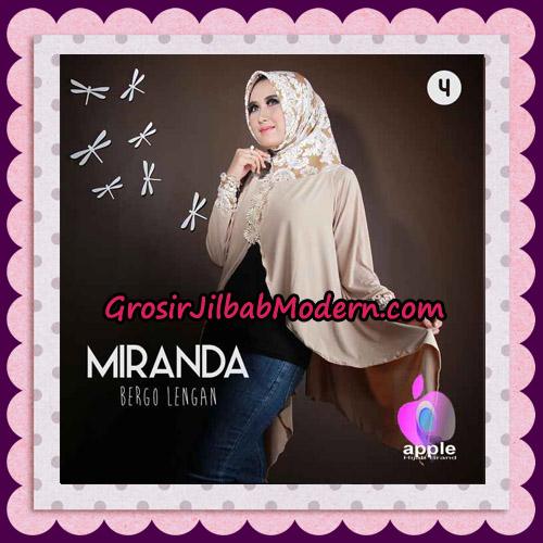Jilbab Bergo Lengan Modis Premium Miranda Original By Apple Hijab Brand No 4