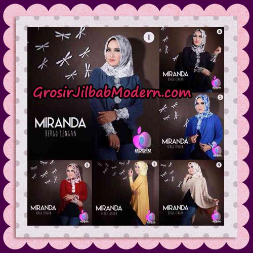 Jilbab Bergo Lengan Modis Premium Miranda Original By Apple Hijab Brand