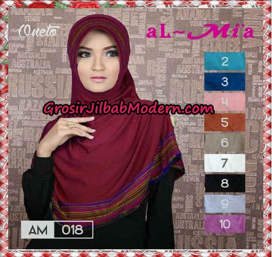 Jilbab Bergo Simple Almia AM018 Original By Al-Mi'a Brand Series