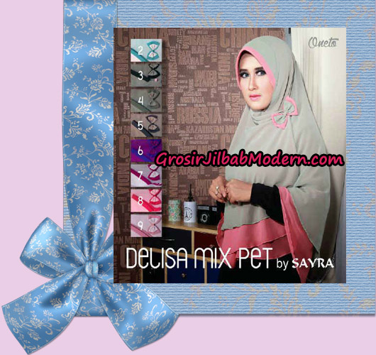 Jilbab Cerutti Jumbo Delisa Mix Pet Original Sayra Series