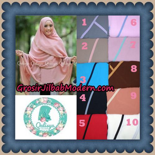 Jilbab Cerutti Jumbo Khimar Syar'i Taqiya Non Pet Ukuran XXL Seri 2 Original By Qalisya Brand Series