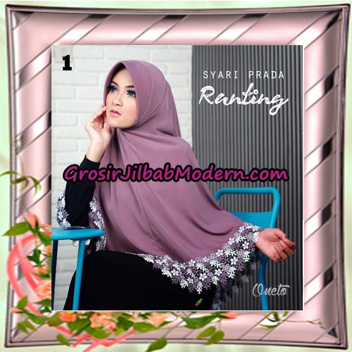 Jilbab Instant Bergo Syar'i Prada Ranting Support By Oneto Hijab No 1