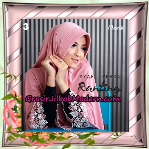 Jilbab Instant Bergo Syar'i Prada Ranting Support By Oneto Hijab No 3