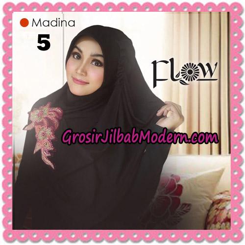 Jilbab Instant Bergo Syria Madina Trendy Original By Flow Idea Brand NO 5 Hitam