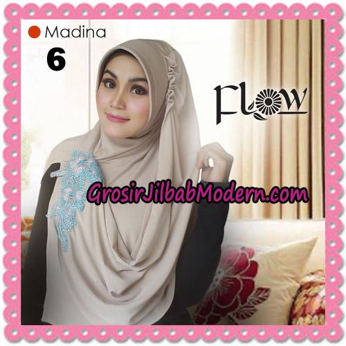 Jilbab Instant Bergo Syria Madina Trendy Original By Flow Idea Brand No 6 Krem