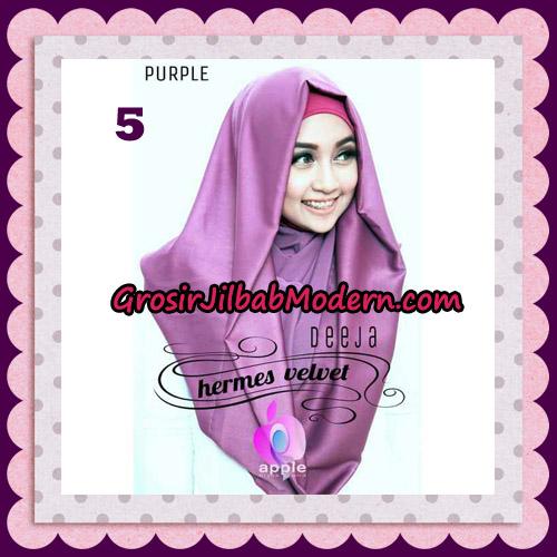 Jilbab Instant Deeja Hermes Velvet Modis Original By Apple Hijab Brand No 5 Purple