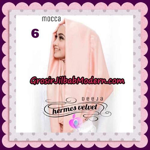 Jilbab Instant Deeja Hermes Velvet Modis Original By Apple Hijab Brand No 6 Mocca