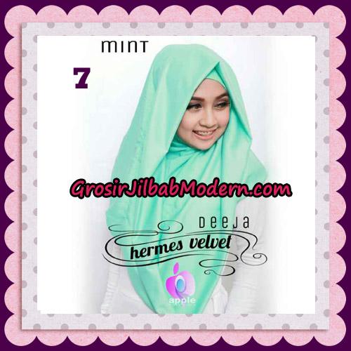 Jilbab Instant Deeja Hermes Velvet Modis Original By Apple Hijab Brand No 7 Mint