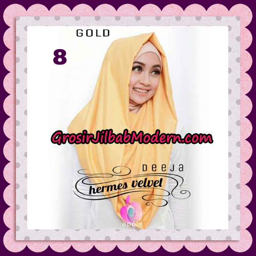 Jilbab Instant Deeja Hermes Velvet Modis Original By Apple Hijab Brand No 8 Gold