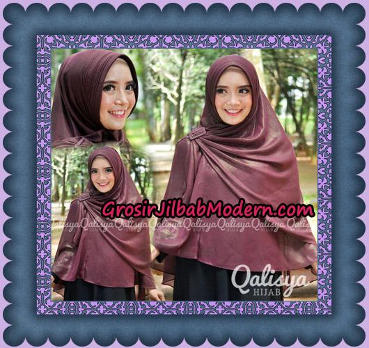 Jilbab Instant Khimar Syar'i Halwa Glitter Pet XL Modis Original By Qalisya Brand - Detail 2