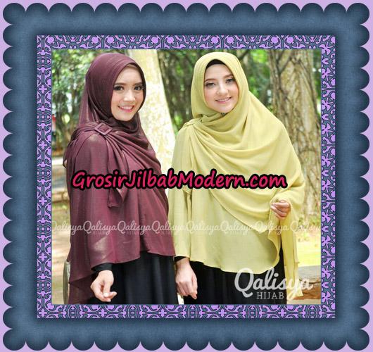 Jilbab Instant Khimar Syar'i Halwa Glitter Pet XL Modis Original By Qalisya Brand