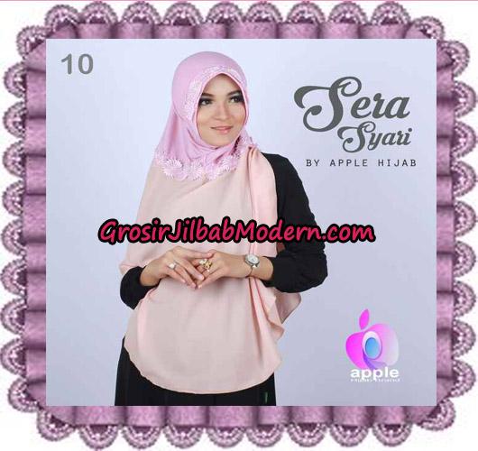 Jilbab Instant Sera Syar'i Cantik Original By Apple Hijab Brand No 10 Peach