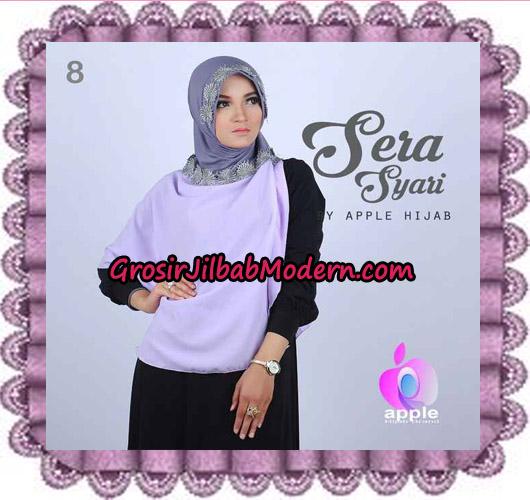 Jilbab Instant Sera Syar'i Cantik Original By Apple Hijab Brand No 8 Babe Lavender