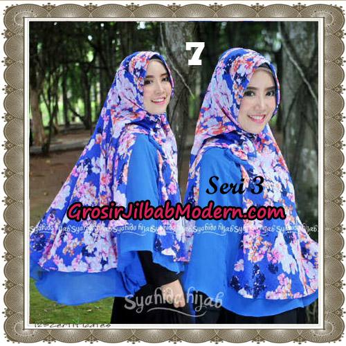 Jilbab Kombinasi Bunga dan Polos Khimar Michan Pet Seri 3 Original by Syahida No 7