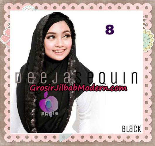 Jilbab Modern Instant Cantik Deeja Sequin Original By Apple Hijab Brand No 8 Black