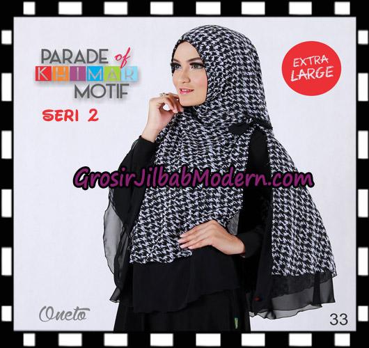 Jilbab Parade Of Khimar Motif Non Pet Seri 2 Support By Oneto Hijab No 33