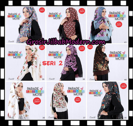 Jilbab Parade Of Khimar Motif Non Pet Seri 2 Support By Oneto Hijab No 35 - 43