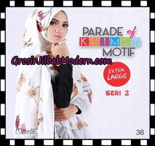 Jilbab Parade Of Khimar Motif Non Pet Seri 2 Support By Oneto Hijab No 36