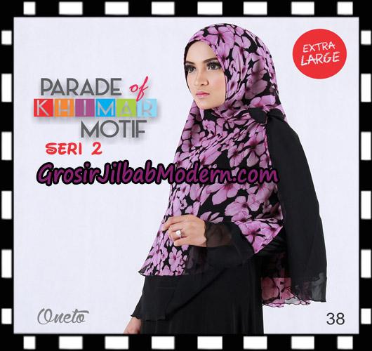 Jilbab Parade Of Khimar Motif Non Pet Seri 2 Support By Oneto Hijab No 38