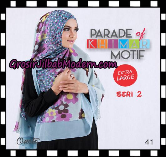 Jilbab Parade Of Khimar Motif Non Pet Seri 2 Support By Oneto Hijab No 41