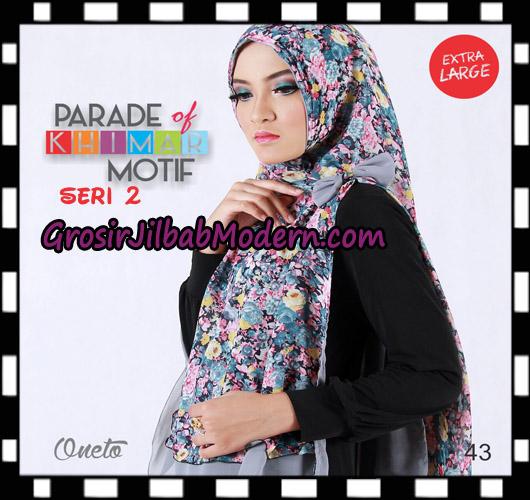 Jilbab Parade Of Khimar Motif Non Pet Seri 2 Support By Oneto Hijab No 43