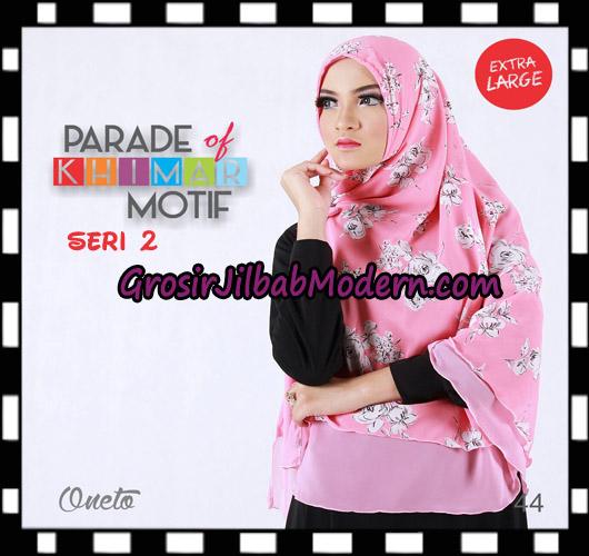 Jilbab Parade Of Khimar Motif Non Pet Seri 2 Support By Oneto Hijab No 44