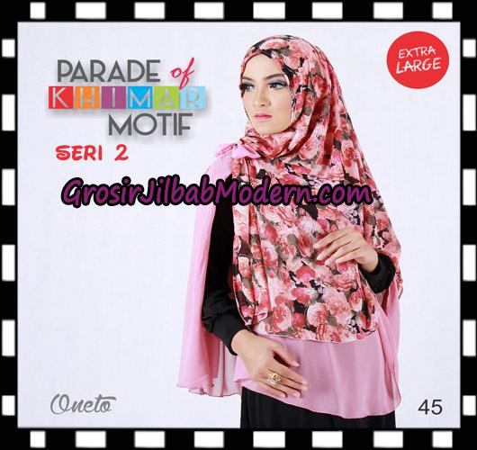 Jilbab Parade Of Khimar Motif Non Pet Seri 2 Support By Oneto Hijab No 45