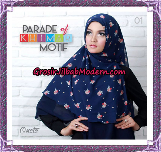 Jilbab Parade Of Khimar Motif Tanpa Pet Support By Oneto No 1