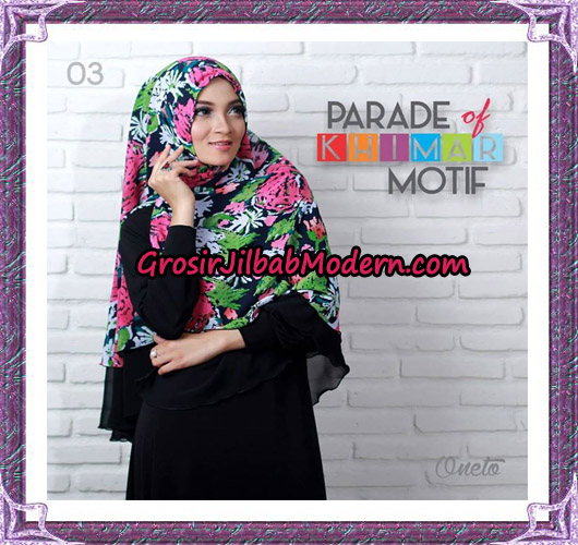 Jilbab Parade Of Khimar Motif Tanpa Pet Support By Oneto No 3