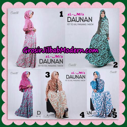 Gamis Setelan Daunan Cantik Original By Almia ( Al-Mi'a Brand )