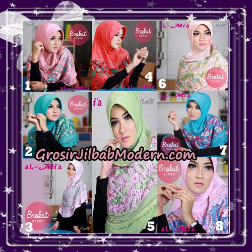 Jilbab Brokat Bergo Almia Cantik Original By Almia ( Al-Mi'a Brand )