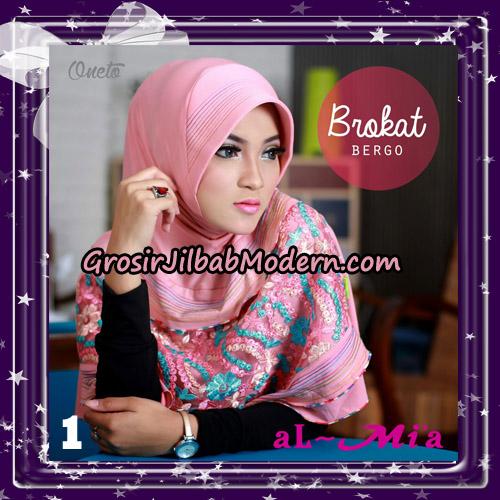 Jilbab Brokat Bergo Almia Cantik Original By Almia ( Al-Mi'a Brand ) No 1