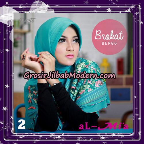 Jilbab Brokat Bergo Almia Cantik Original By Almia ( Al-Mi'a Brand ) No 2