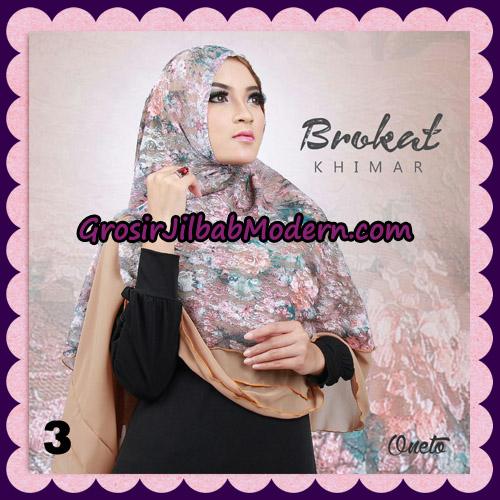 Jilbab Instant Khimar Brokat Cantik Support By Oneto Hijab No 3